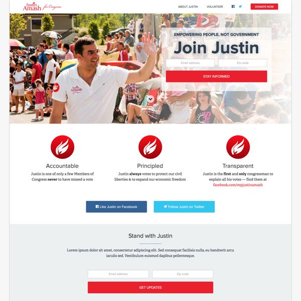 Justin Amash Homepage