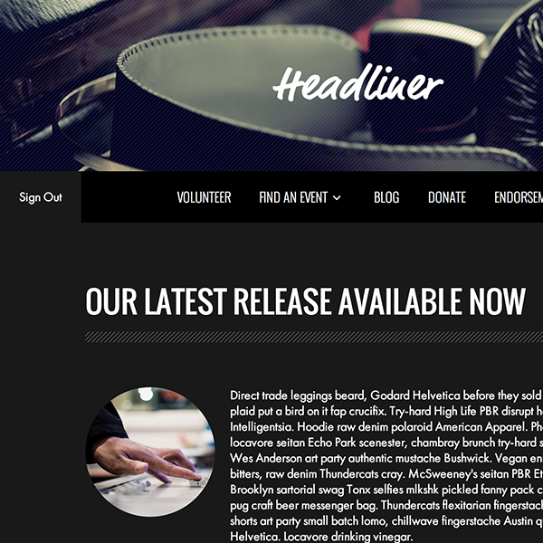 Headliner Homepage