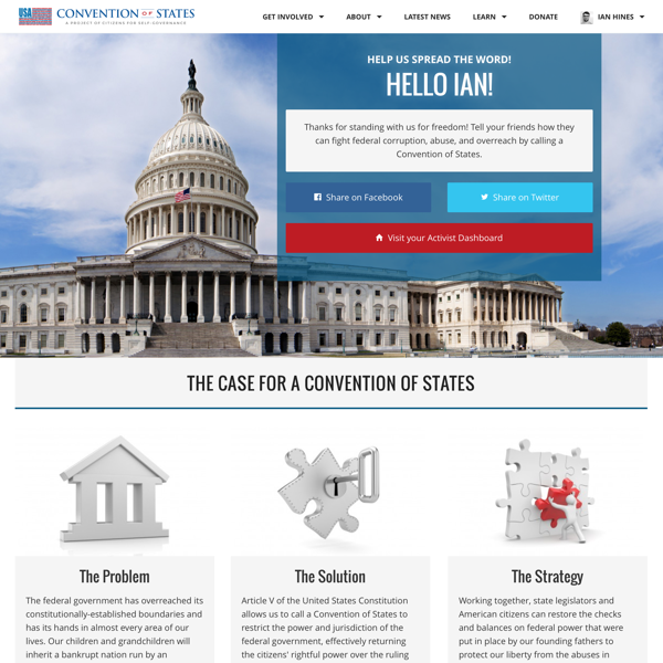 Convention of States — Homepage