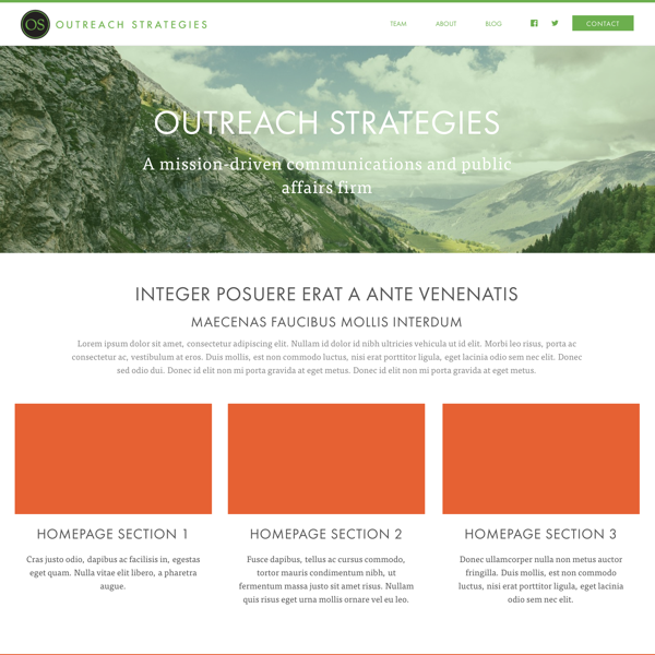 Outreach Strategies — Homepage
