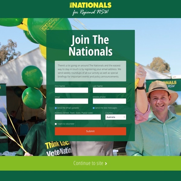 NSW Nationals Landing Page