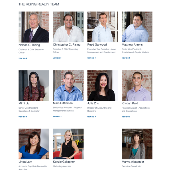Rising Realty Partners' Team