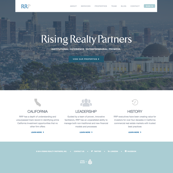 Rising Realty Partners Homepage