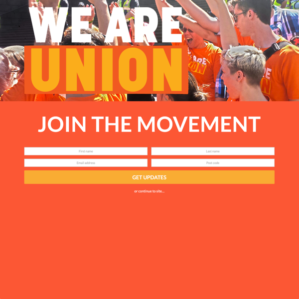 We Are Union (Splash Page)
