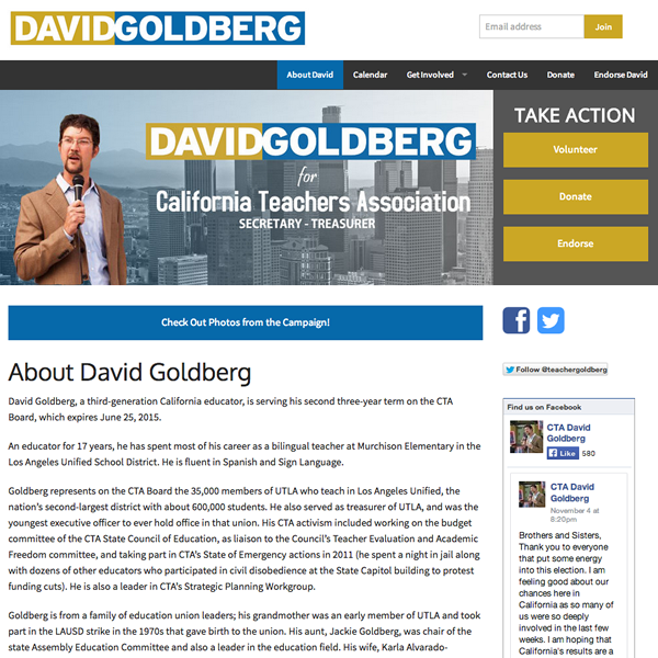 Elect David Goldberg
