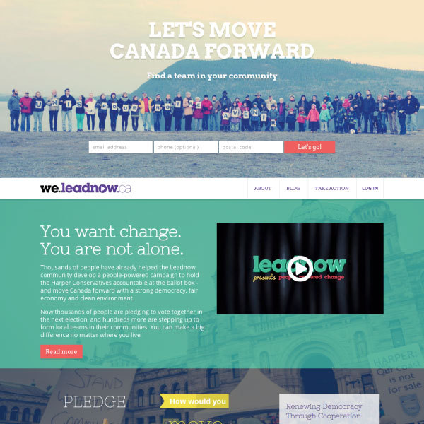 Leadnow Election Platform