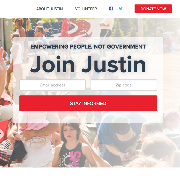 Justin Amash Signup Form