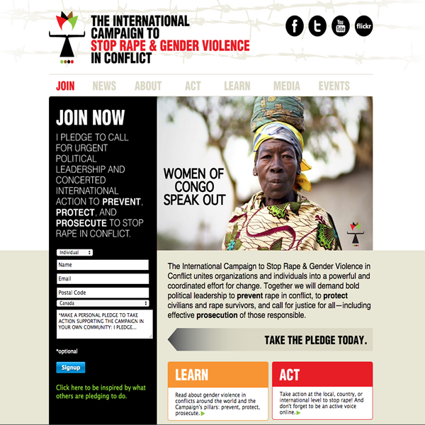Campaign to Stop Race & Gender Violence in Conflict