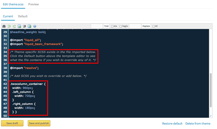 How do i edit the css file for my site douglas turners suggestion rszthemescssg maxwellsz