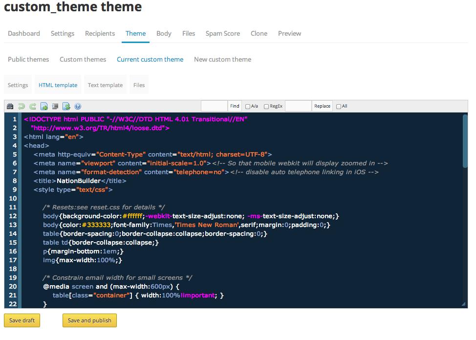 custom theme theme