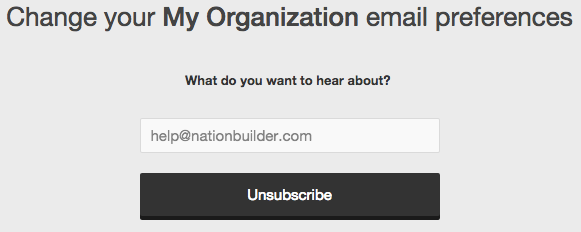Unsubscribe default