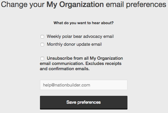 Unsubscribe front facing with tags