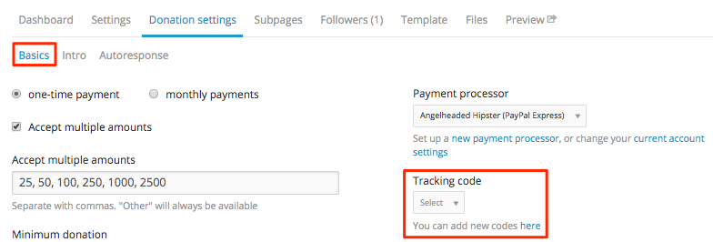understanding tracking codes in nationbuilder