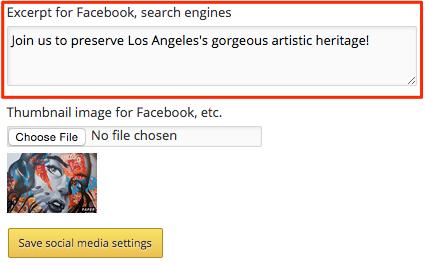Facebook excerpt highlight