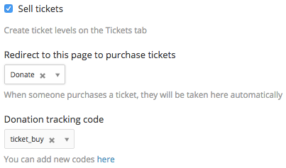 Ticket drop downs