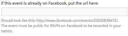 Event Facebook URL