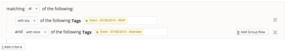 Filter RSVPs without Attendees