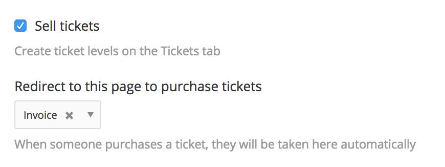 Ticket drop downs