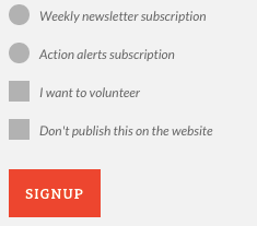 Signup with tags