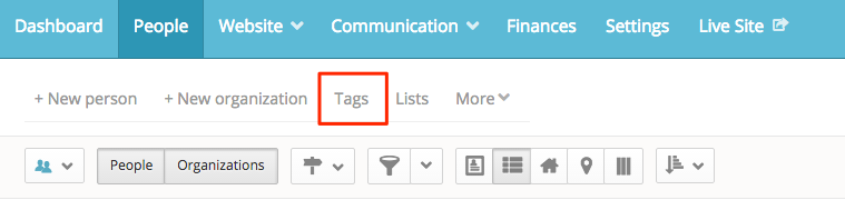 View tags in people section