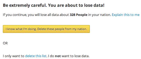 warning before deleting multiple people