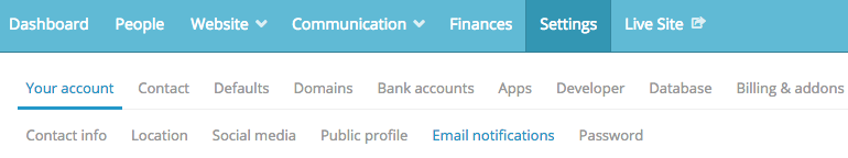 navigate to your notifications in the Settings section