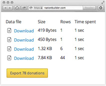 Easily export donations to NGP for compliance reporting