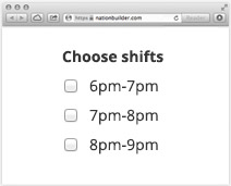 Sign up for shifts