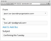 Send email reminders and confirmations