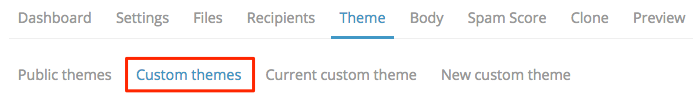Theme to custom theme