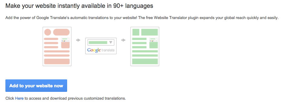 Add a Google translate widget to your website - NationBuilder