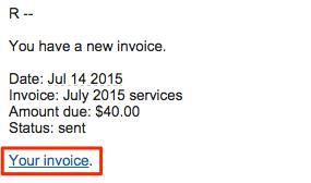 Sent invoice