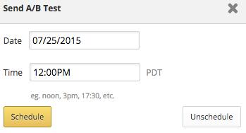 Schedule box adjustment