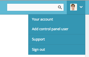 what's the header dropdown look like?