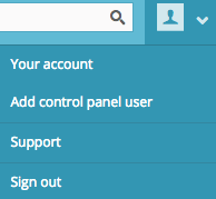 add a new control panel user