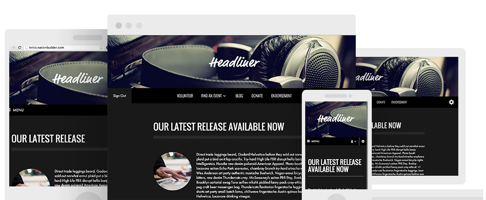 Headliner is a fresh, bold theme designed to organize a captive audience.  As a responsive theme, it works seamlessly across devices.