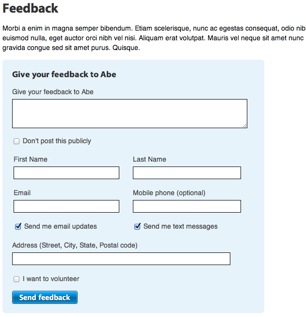 How To Create A Feedback Page Nationbuilder