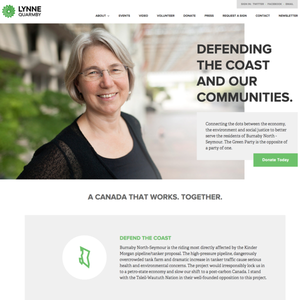 Lynne Quarmby, Green Party of Canad