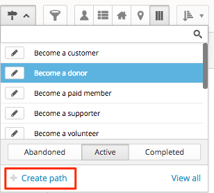 path picker open and click on create path