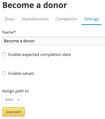 donor path settings