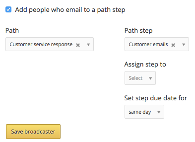 add emailers to path step