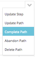 complete path from caron menu