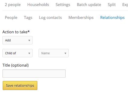 batch update relationships form