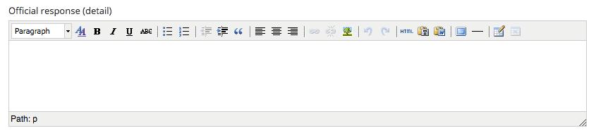 Suggestion response text box