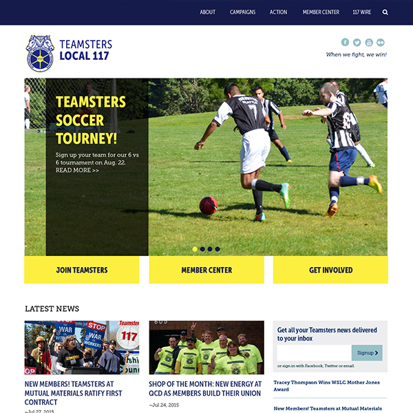Teamsters 117 Responsive Design