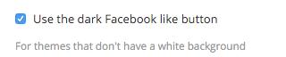 Dark Facebook button