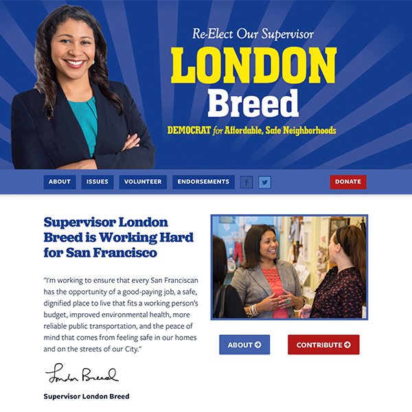 Re-Elect Supervisor London Breed