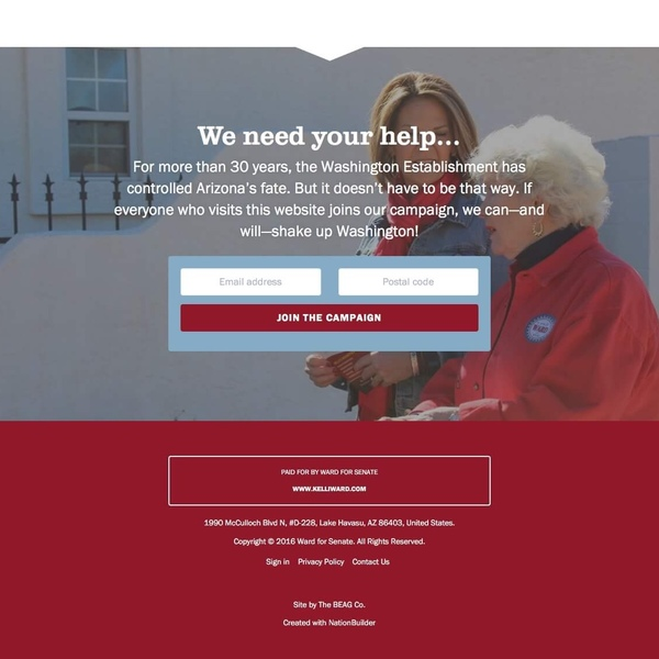 Kelli Ward for Senate (Footer)