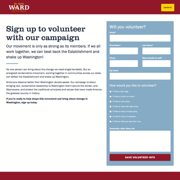 Kelli Ward for Senate (Volunteer)