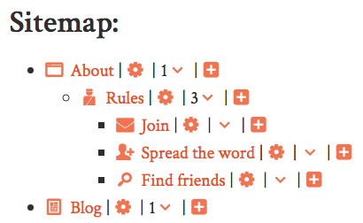 creating a sitemap for web administrators nationbuilder